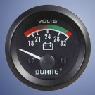 Durite 24V, illuminated battery condition meter